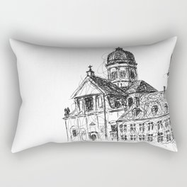 Saint Peter's Abbey Rectangular Pillow