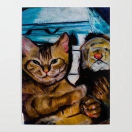 Beloved Munchkin with Steiff lion Poster