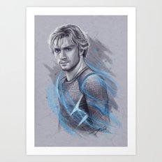 He's Fast Art Print
