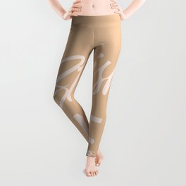Stylish Nude Handlettering text color version Leggings