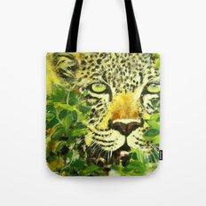 Wildlife Painting Series 3 - Leopard in preying pose Tote Bag