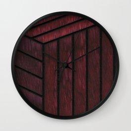 Crimson Cube Wall Clock