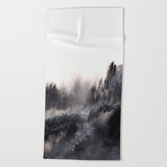 Watercolor abstract landscape 17 Beach Towel