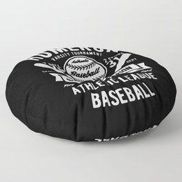 play hard or go home baseball champion Floor Pillow