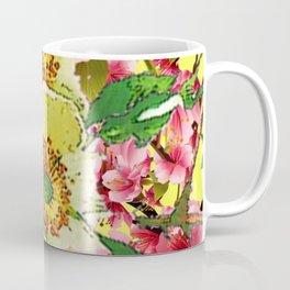 CONTEMPORARY PINK & CREAMY WHITE SPRING FLOWERS Coffee Mug
