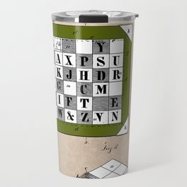patent Kinsey Puzzle Blocks 1878 Travel Mug