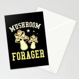 Mushroom Forager Vegetables Cuisine Wood Stationery Cards