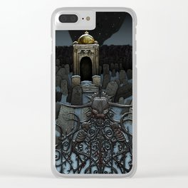 The Frozen Cemetary Clear iPhone Case