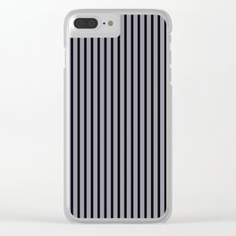 Lilac Gray and Black Stripes Clear iPhone Case