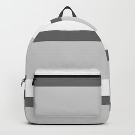 Strips - white and gray. Backpack