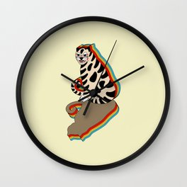 rainbow tiger - beige Wall Clock