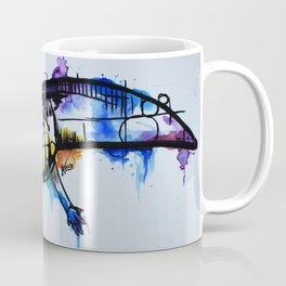 Rainbow Splash Axolotl Watercolour Coffee Mug