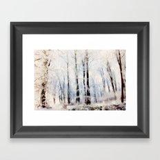 Winter landscape Aquarell Framed Art Print