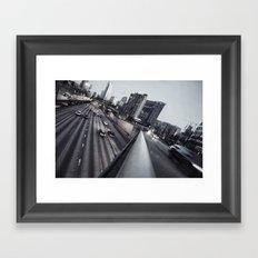 rush hour Framed Art Print