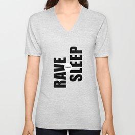 Rave Sleep Repeat Unisex V-Neck