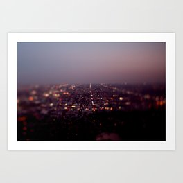 Angel City Lights, L.A. at Night (No. 2) Art Print