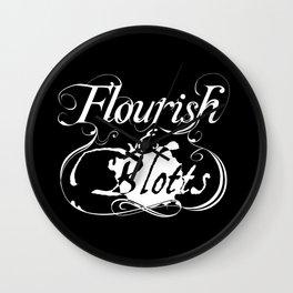 Flourish & Blotts of Diagon Alley Wall Clock