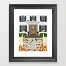 Autumn leaf game Framed Art Print