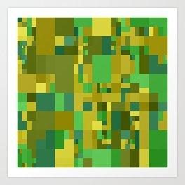 green and yellow mosaic Art Print