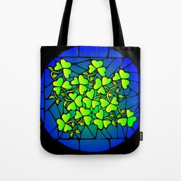 Stained Glass Shamrocks Tote Bag