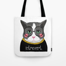 whistleburg - Introvert Cat Tote Bag
