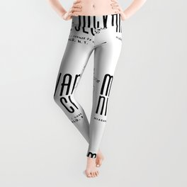 McVan's Nite Club Black Leggings