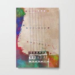 Guitar art 10 #guitar #music Metal Print