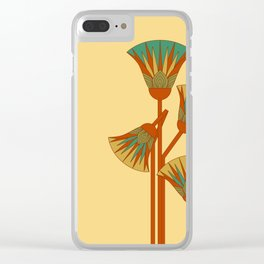 Ancient Egyptian lotus - Colorful Clear iPhone Case