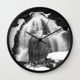 Winter Arch Waterfall Wall Clock