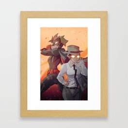 Batwoman & The Question Framed Art Print