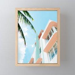 Miami Fresh Summer Day Framed Mini Art Print