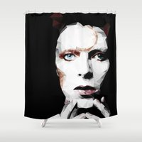 david olenick Shower Curtains featuring David by Natasha Troy
