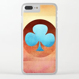 Ace of Trefoil III Clear iPhone Case