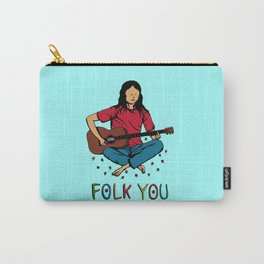 Folk You Guitar Hippie Carry-All Pouch