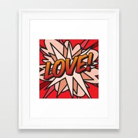 comic book Framed Art Prints featuring Comic Book LOVE! by The Image Zone