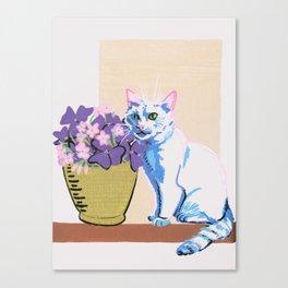 Purple Clover Canvas Print