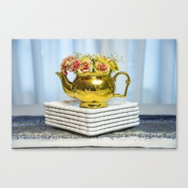 Blooming Brew Canvas Print