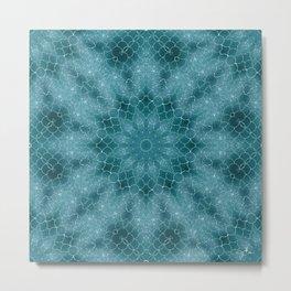 Sea Mandala Metal Print