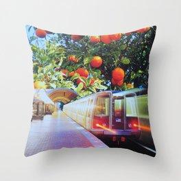 Citrus Express Throw Pillow