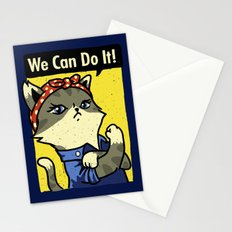 Purrsist! We Can Do It! Stationery Cards