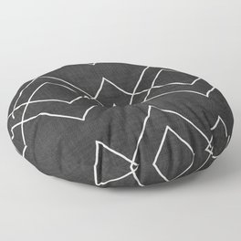 Nudo in Black and White Floor Pillow