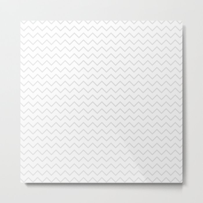 Elegant of white geometrical pastel color chevron Metal Print