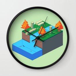 Isometric Riverside Wall Clock