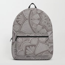 Warm Gray Mandala 2 Backpack