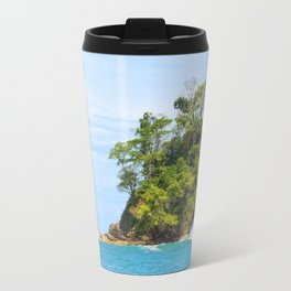 Ocean and forest cliff at Manuel Antonio Costa Rica Travel Mug