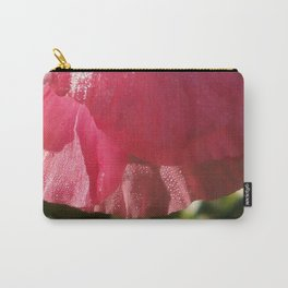 Glistening Pink Petals Carry-All Pouch