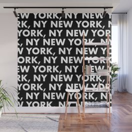 New York, NY Graphic Pattern 121 Black and White Wall Mural