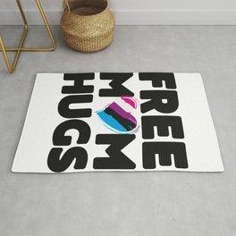 Free Mom Hugs Shirt, Free Mom Hugs Genderfluid Pride LGBTQIA Rug