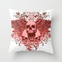 friday Throw Pillows featuring Friday by Tshirt-Factory