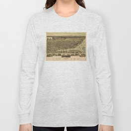 Vintage Pictorial Map of Tacoma WA (1890) Long Sleeve T-shirt
